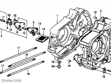 Honda Ct70 1994 (r) Usa parts list partsmanual partsfiche