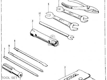 Honda Ct70 Trail 70 1972 Ct70k1 Usa parts list partsmanual