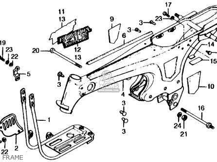 Honda CT70 TRAIL 70 1976 USA parts lists and schematics