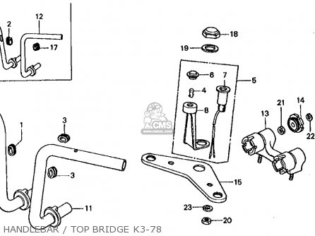 1976 ct90 wiring diagram jeep jk door honda ct70 trail 70 usa parts lists and schematics handlebar top bridge k3 78
