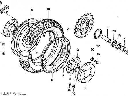 Honda Ct70 Trail 70 1976 Usa parts list partsmanual partsfiche