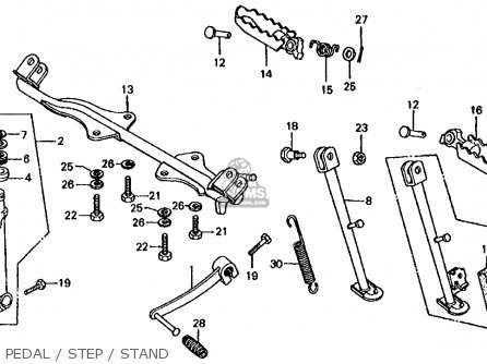 Honda CT70 TRAIL 70 1977 USA parts lists and schematics