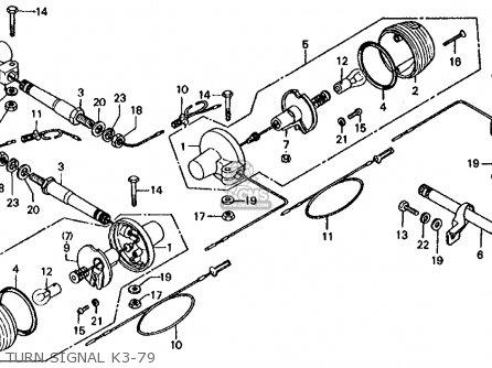 Honda CT70 TRAIL 70 1979 (Z) USA parts lists and schematics