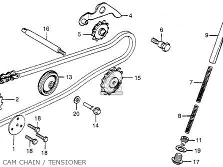 Honda CT70 TRAIL 70 1980 (A) USA parts lists and schematics