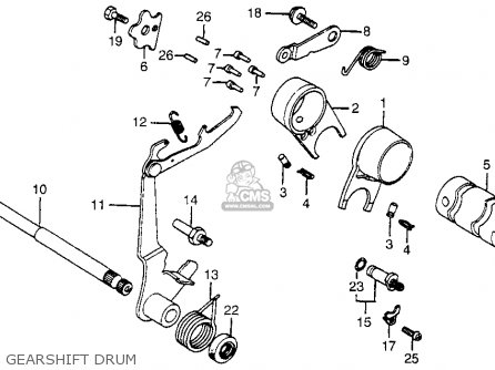 Honda Ct70 Trail 70 1980 (a) Usa parts list partsmanual