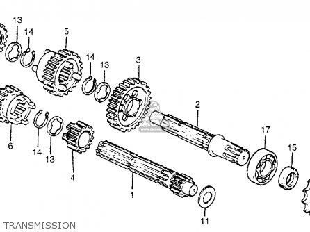 Honda Ct70 Trail 70 1980 (a) Usa parts list partsmanual