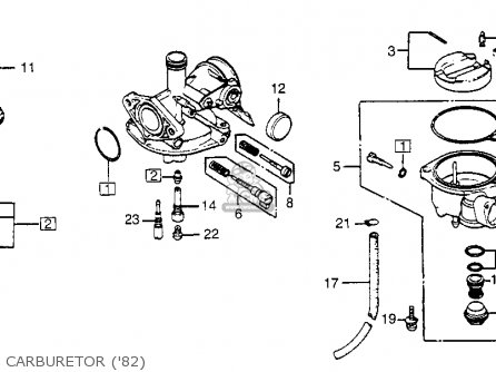 Honda CT70 TRAIL 70 1982 (C) USA parts lists and schematics