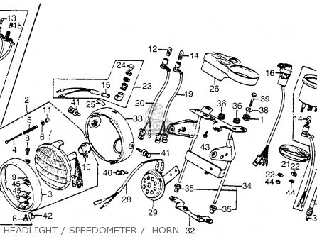 Honda CT70 TRAIL 70 1982 (C) USA parts lists and schematics