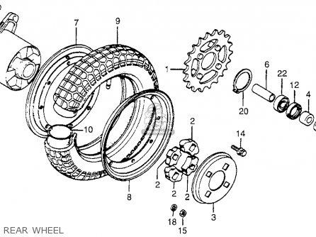 Honda Ct70 Trail 70 1982 (c) Usa parts list partsmanual