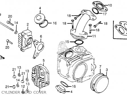 Cylinder Head Cylinder Schematic Honda Ct70 Trail 70 K4