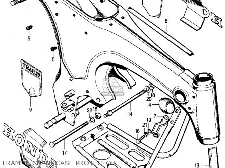 Honda CT70 TRAIL 70 K0 1969 USA parts lists and schematics