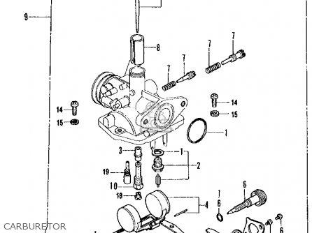 Honda Ct70 Trail 70 K1 1972 Usa parts list partsmanual