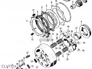 Honda CT70 TRAIL 70 K2 1973 USA parts lists and schematics