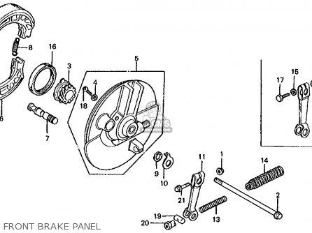 Honda Ct70 Trail 70 K4 1975 Usa parts list partsmanual