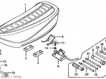 Honda CT70 TRAIL 70 K4 1975 USA parts lists and schematics