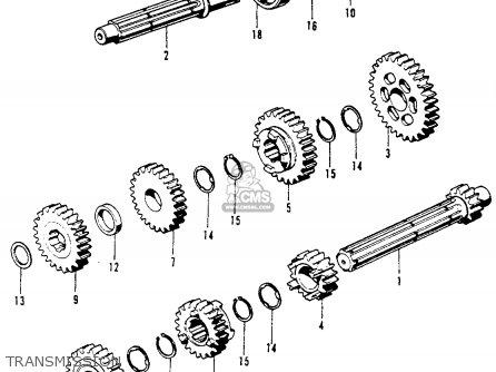 Honda Ct70h Trail 70h 1970 Ct70hk0 Usa parts list
