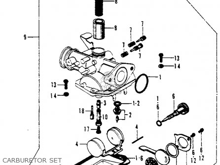 Honda Ct70h Trail 70h K0 1970 Usa parts list partsmanual