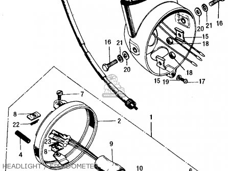Honda Ct70h Trail 70h K0 1970 Usa parts list partsmanual