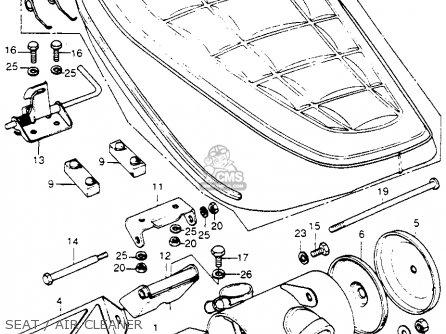 Honda Ct70h Trail 70h K1 1972 Usa parts list partsmanual