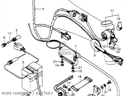 honda trail 70 wiring diagram electric meter uk ct70h 70h k1 1972 usa parts list partsmanual partsfiche