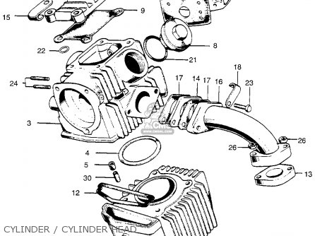 Honda CT90 TRAIL 1966 K0 USA parts lists and schematics
