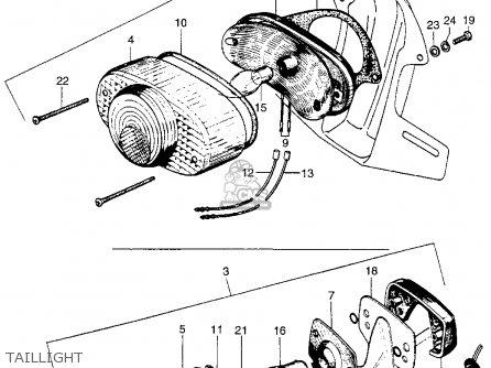 Honda Ct90 Trail 1966 K0 Usa parts list partsmanual partsfiche