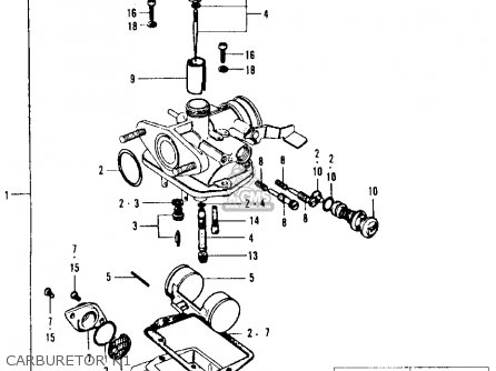 Honda CT90 TRAIL 1969 K1 USA parts lists and schematics