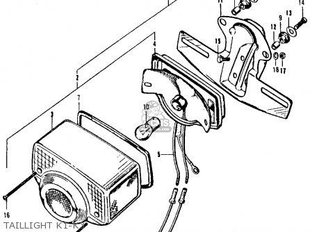 Honda Ct90 Trail 1970 K2 Usa parts list partsmanual partsfiche