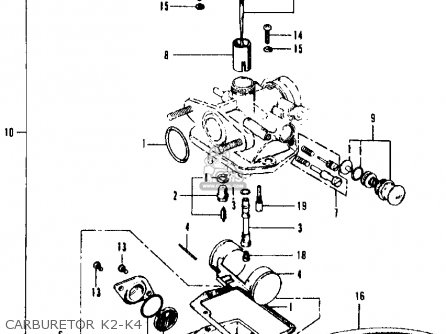 Honda CT90 TRAIL 1971 K3 USA parts lists and schematics