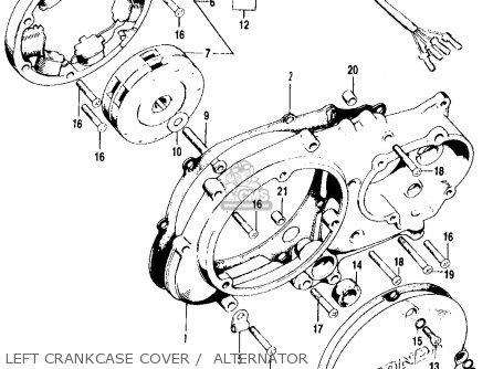 Honda Ct90 Trail 1971 K3 Usa parts list partsmanual partsfiche