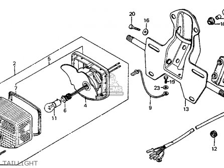 1975 honda ct90 wiring diagram duplex outlet trail k6 usa parts lists and schematics taillight
