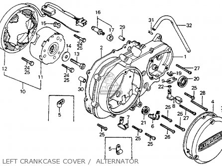 Honda CT90 TRAIL 1976 USA parts lists and schematics
