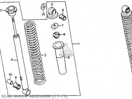 Honda Ct90 Trail 1977 Usa parts list partsmanual partsfiche
