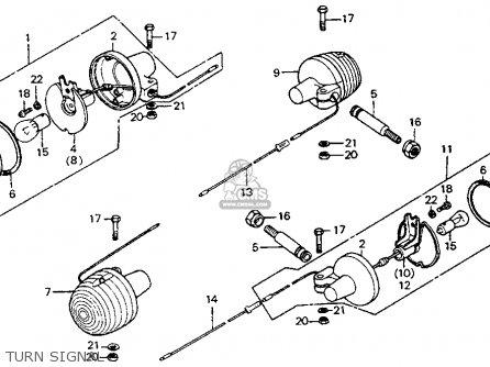 Honda CT90 TRAIL 1978 USA parts lists and schematics