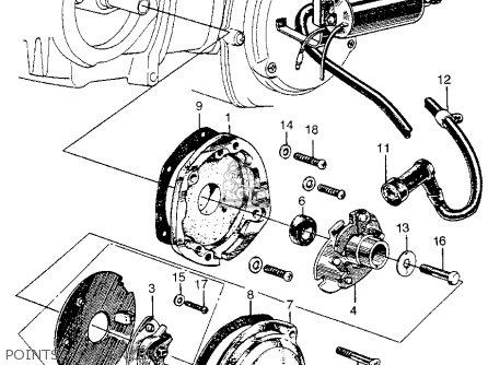 Honda Ct90 Trail 90 1966 Ct90k0 Usa parts list partsmanual