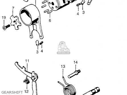 Honda Ct90 Trail 90 1974 Usa parts list partsmanual partsfiche
