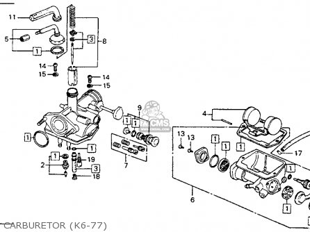 Honda Ct90 Trail 90 1977 Usa Carburetor k6-77