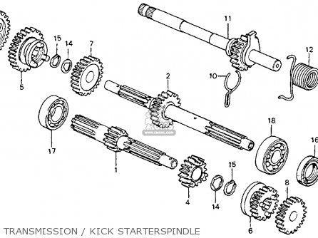 Honda Ct90 Trail 90 1977 Usa parts list partsmanual partsfiche