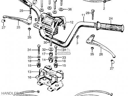 Honda Ct90 Trail 90 K0 1966 Usa parts list partsmanual