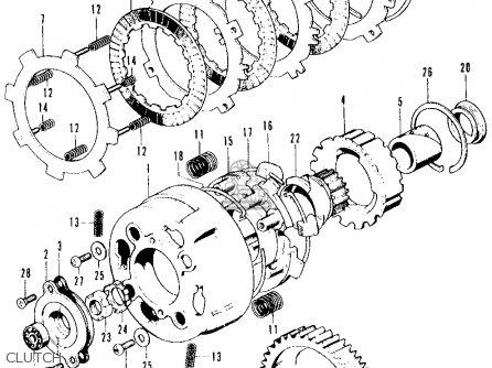 Honda Ct90 Trail 90 K3 1971 Usa parts list partsmanual