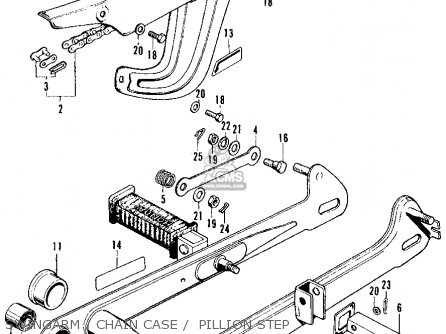 Honda Ct90 Trail 90 K4 1972 Usa parts list partsmanual