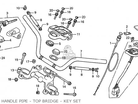 Honda Cx500 1978 Canada parts list partsmanual partsfiche