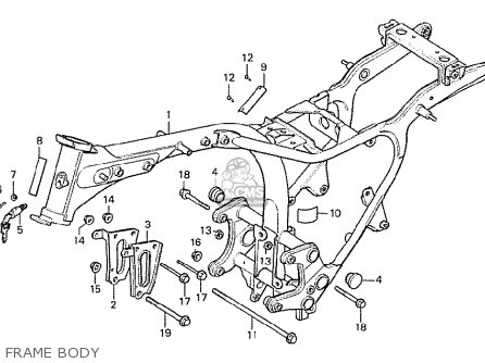 Honda Cx500 1978 England parts list partsmanual partsfiche