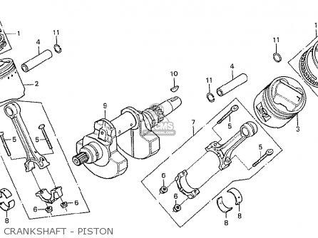 Honda Cx500 1978 Italy parts list partsmanual partsfiche