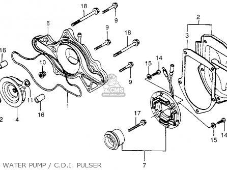 Honda Cx500 1979 (z) Usa parts list partsmanual partsfiche