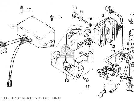 Honda CX500 1980 (A) ENGLAND parts lists and schematics