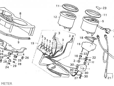 Honda CX500 1980 (A) FRANCE parts lists and schematics