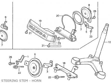 Honda CX500 1980 (A) GENERAL EXPORT / KPH parts lists and