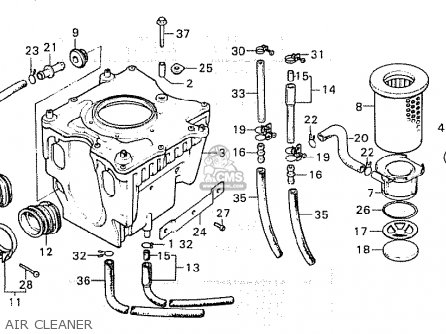 Honda Cx500 1980 (a) Germany / Full Power parts list