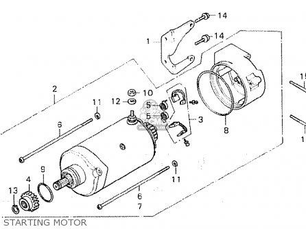 Honda Cx500 1980 (a) South Africa parts list partsmanual